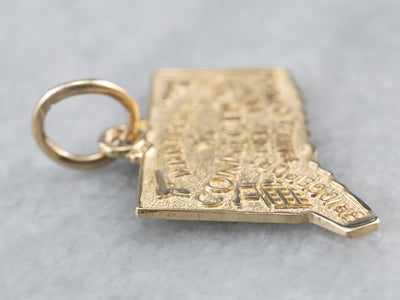 Connecticut State Gold Pendant