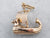 Rose Gold Viking Ship Charm