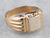 Two Tone 18K Gold Signet Ring