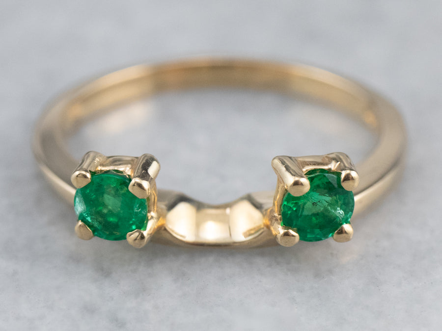 Emerald and Gold Enhancer Ring