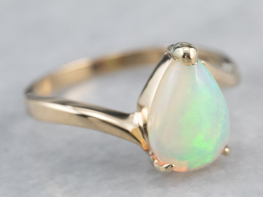 Teardrop Opal Bypass Ring