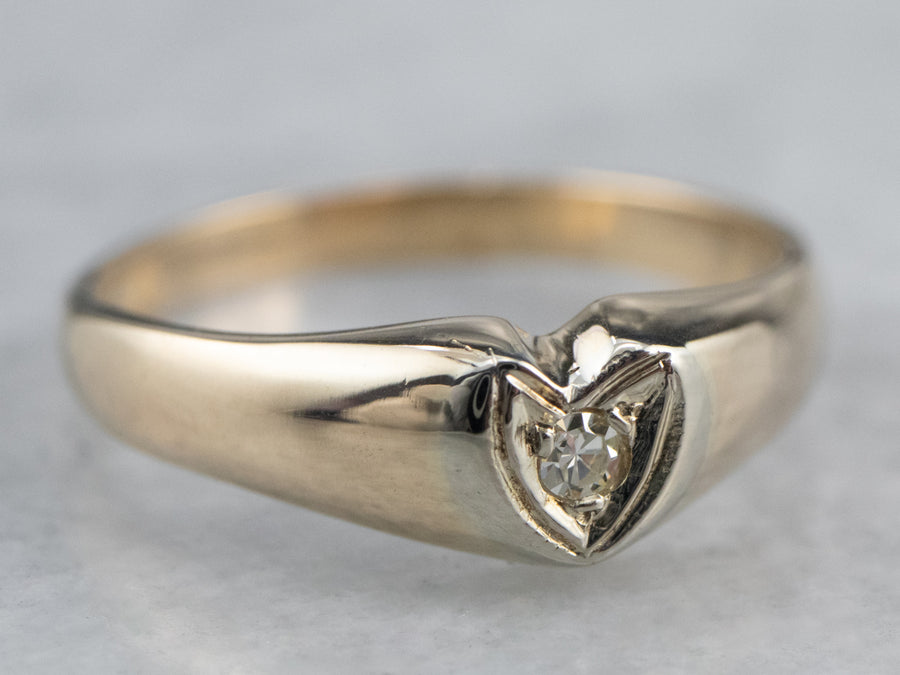 Sweet Diamond Heart Ring