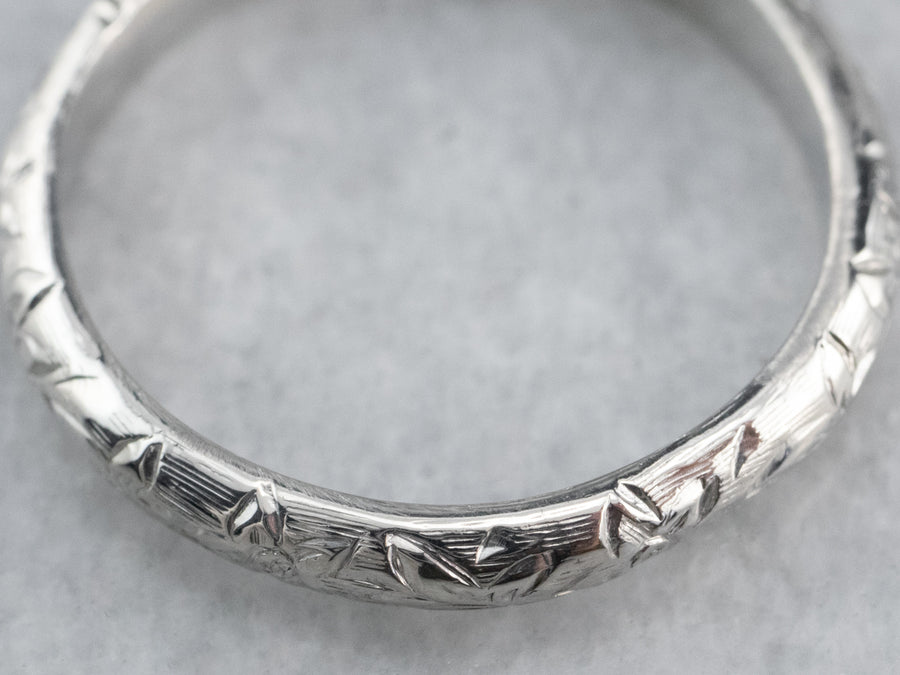 Platinum Forget-Me-Not Flower Band