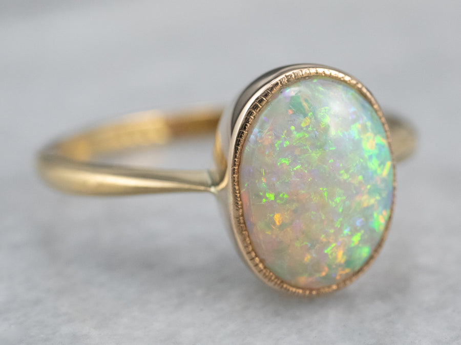 18Ct Gold Australian Opal Ring
