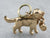 14K Gold Saint Bernard Whiskey Cask Dog Charm