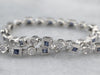 Sapphire and Diamond Tennis Bracelet