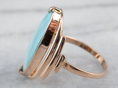Turquoise Rose Gold Statement Ring