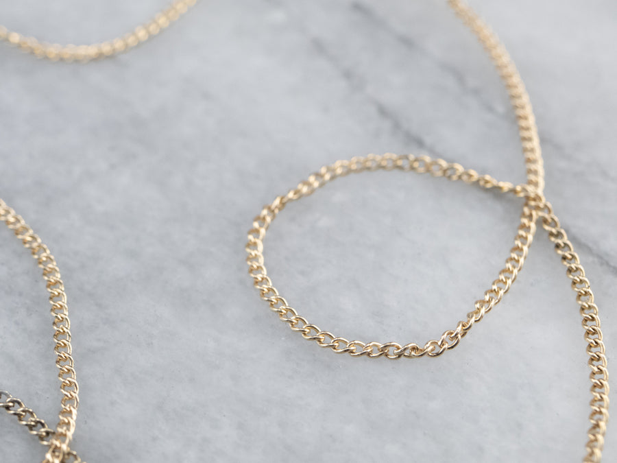 15-Inch Vintage Gold Curb Chain