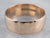 Antique Rose Gold Wide Wedding Band Ring