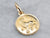 18K Gold Leo Astrology Medal Pendant