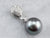 Grey Pearl Diamond White Gold Drop Pendant