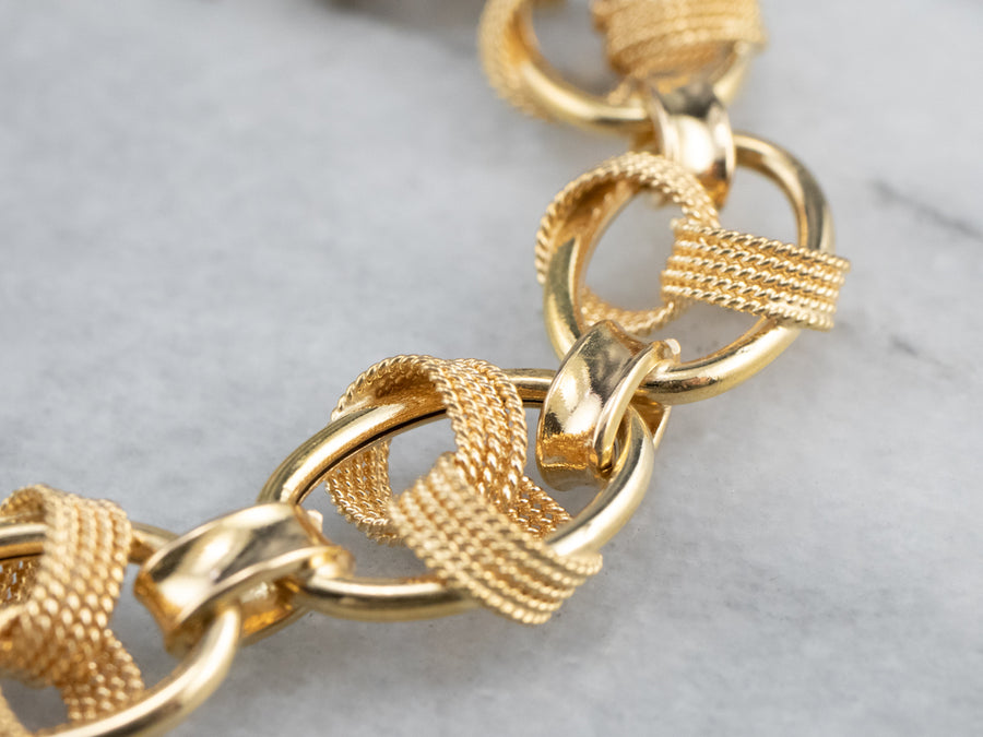 18K Gold Fancy Link Bracelet