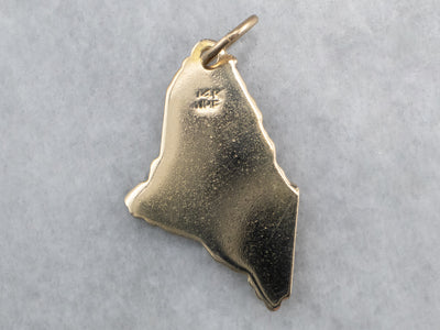 Maine State Gold Pendant