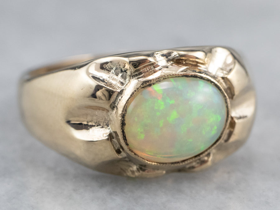 Vintage Opal Solitaire Ring