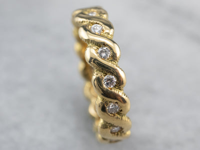 Twisting Diamond Eternity Band