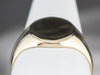 14K Gold Plain Unisex Signet Ring