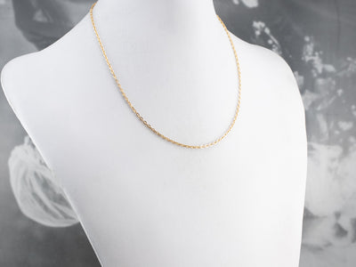 Vintage Gold Oval Link Chain