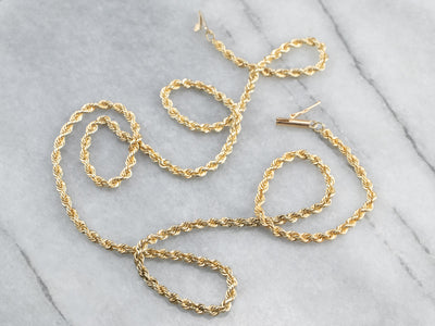 Heavy Gold Rope Twist Chain
