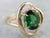 Gold Green Tourmaline Solitaire Ring