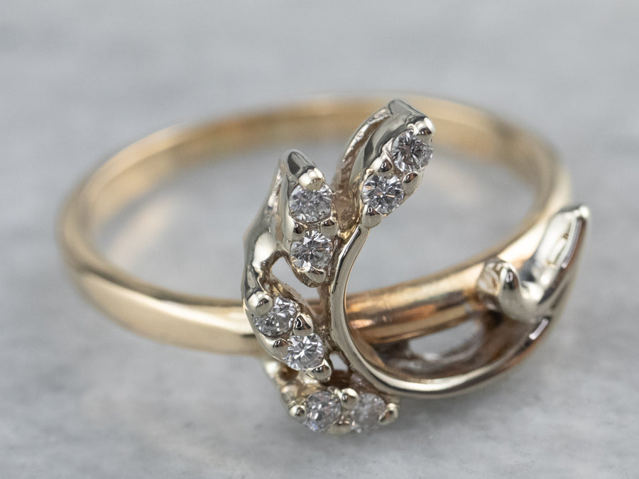 Vintage Botanical Diamond Ring