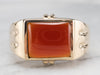 Retro Era Men's Carnelian Gold Ring