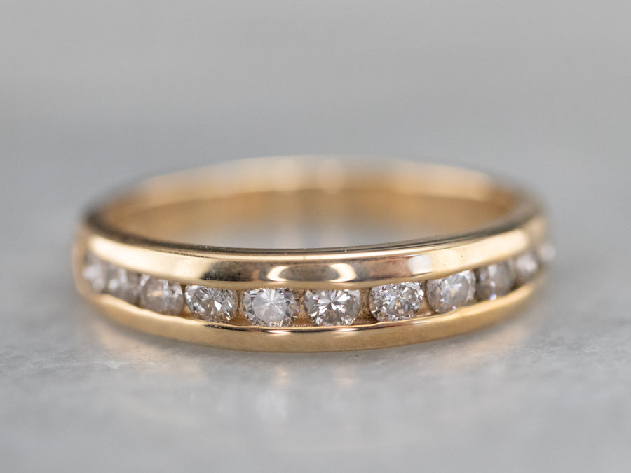Gold Channel Set Diamond Band