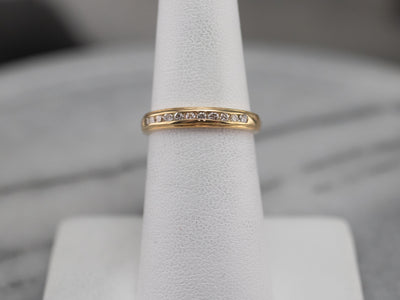 Vintage Gold Diamond Band