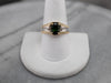 Men's Green Tourmaline and Diamond Ring