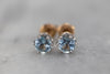 Mixed Metal Aquamarine Stud Earrings