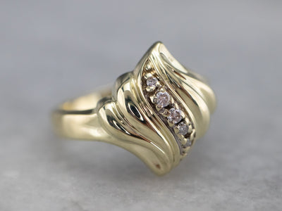 Yellow Gold Diamond Cocktail Ring