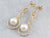 Pearl Gold Twisted Wire Drop Earrings