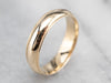 Milgrain Edge Yellow Gold Wedding Band