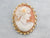 Vintage Gold Twist Cameo Brooch or Pendant
