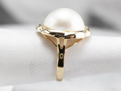Vintage Mabe Pearl Cocktail Ring