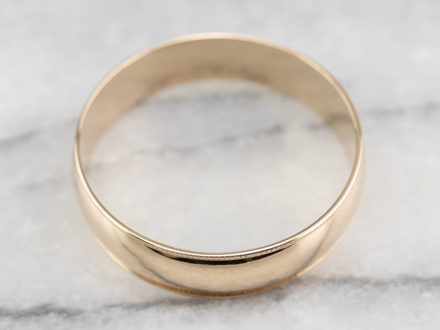 Plain 14 Karat Gold Wedding Band