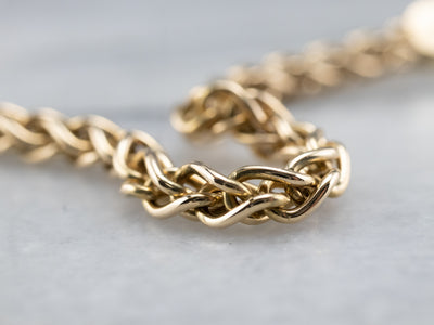 Gold Wheat Box Chain Necklace