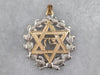 Two Tone Gold Star of David Medallion