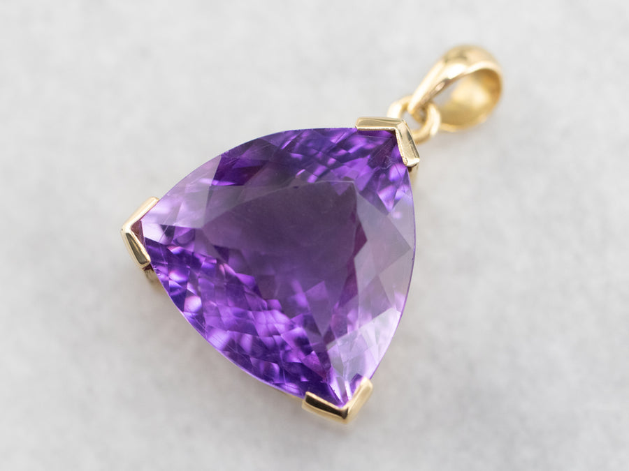 Yellow Gold Amethyst Cocktail Pendant