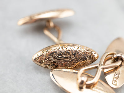 Engraved Victorian Cufflinks