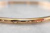 Vintage 22 Karat Gold Pattern Bangle Bracelet