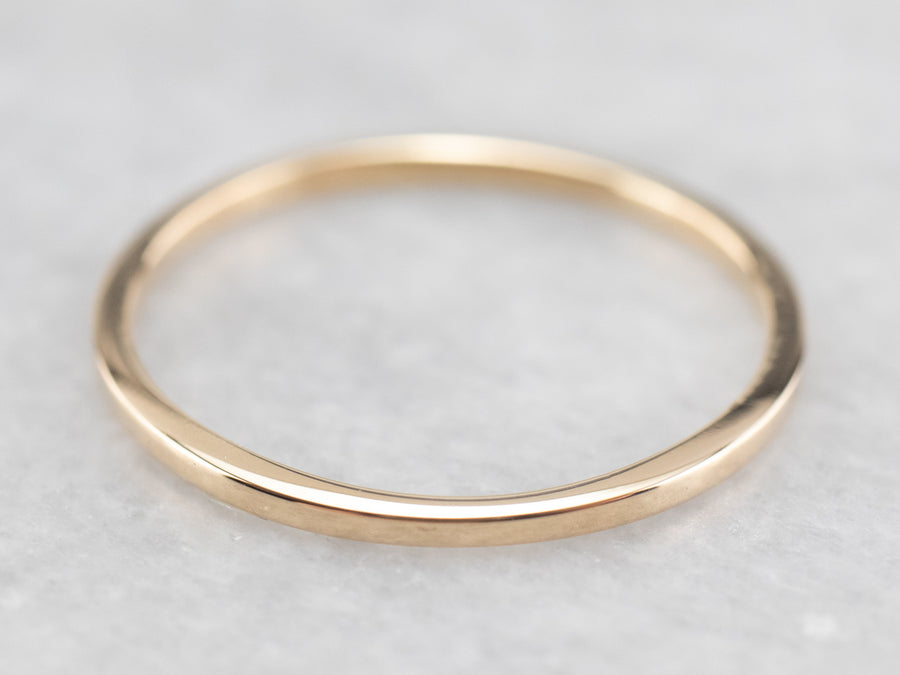 Thin Yellow Gold Band