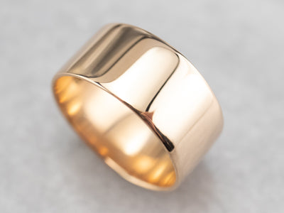 Antique Wide Rose Gold Band