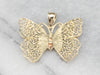 Large Gold Filigree Butterfly Pendant
