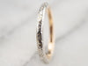 Antique Platinum Gold Floral Patterned Wedding Band
