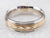 Two Tone Gold Chevron Comfort Fit Wedding Band