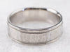Hammered Platinum Men's Wedding Band