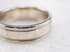 14K White Gold Milgrain Wedding Band