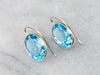 Blue Topaz Gold Drop Earrings