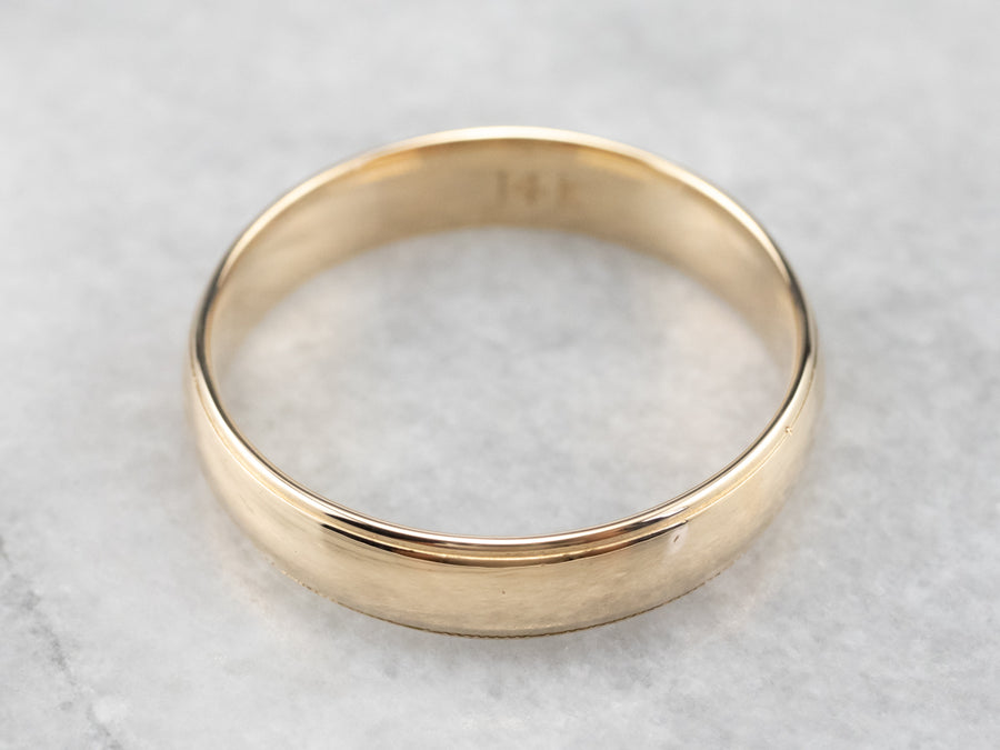 Men's Yellow 14K Gold Wedding Band