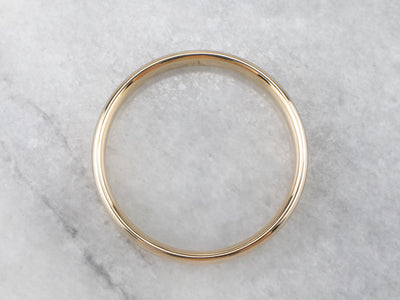 Unisex 14K Yellow Gold Wedding Ring